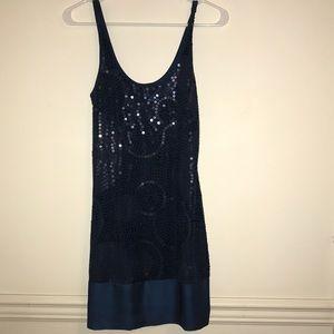 Teal Sequin Express Dress